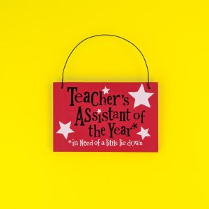 Teacher's Assistant of The Year Hanging Sign - The Bright Side