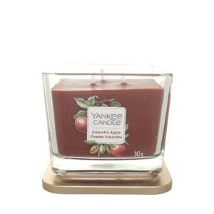 Yankee Candle Elevation Collection - Amaretto Apple - Medium 3-Wick Square Candle