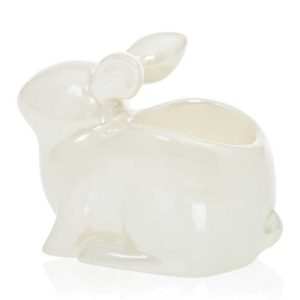 Yankee Candle Pearlescent Crackle Bunny Tea Light Holder
