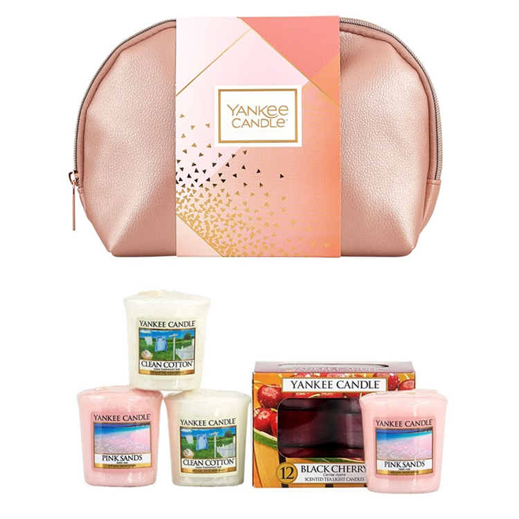 Yankee Candle Pink Cosmetics Bag Gift Set