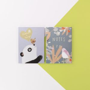 Ivy & Bee Two Pack of Notebooks - Notes and Friends and Things - Soul UK, IVYNBP03