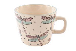 Embossed Dragonfly Mug