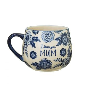 sass and belle blue willow floral mum mug