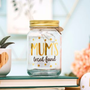 Mum's Treat Fund Money Jar - Sass and Belle