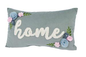 Grey Floral Home Cushion richard lang