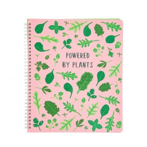 Powered By Plants A4 Lined Notebook - Sass and Belle
