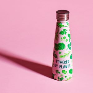Powered By Plants Steel Water Bottle - Sass and Belle