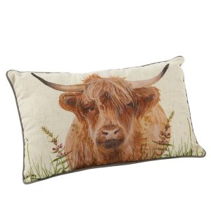 Highland Cow Cushion - a portrait- richard lang