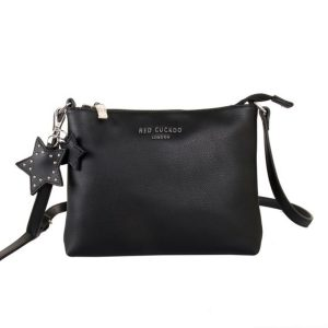 Red Cuckoo - 509 - Black Cross Body Bag With Star Keychain