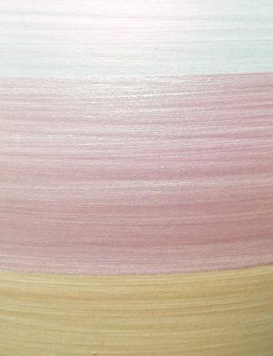 Terramundi Money Pot - Metallic White with Pearlescent Multi Coloured Stripes - C73
