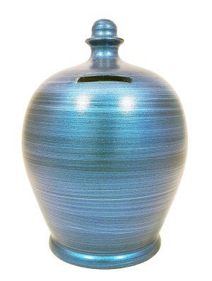Terramundi Money Pot - Metallic Blue - C72