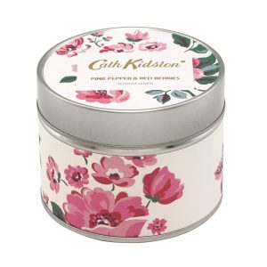 Cath Kidston Pink peppers and Red Berries Tinned Candle