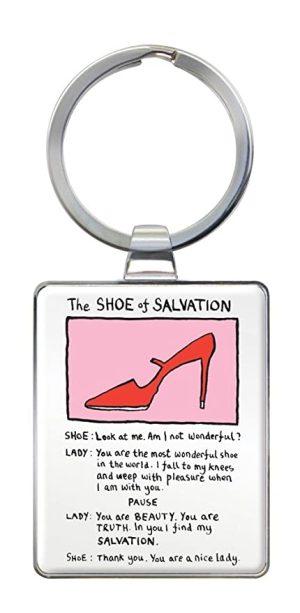 The Shoe of Salvation Keyring - Edward Monkton
