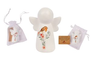 Robin Guardian Angel Figurine In Pouch