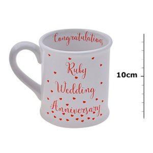 Ruby Wedding Anniversary Mug