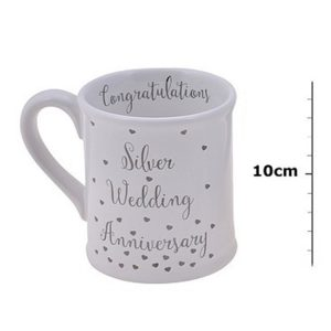 Silver Wedding Anniversary Mug