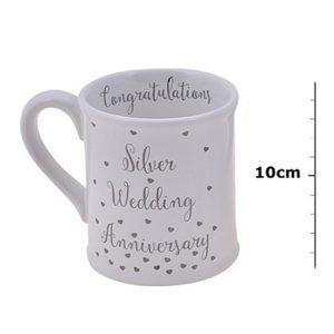 Silver Wedding Anniversary Mug