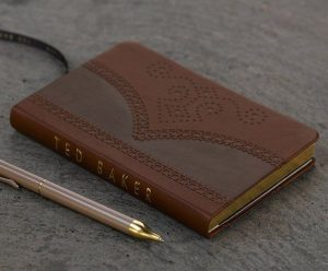 Ted Baker Small Brown Brogue Notebook
