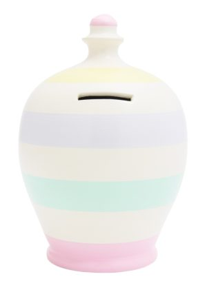 Terramundi Money Pot - Pastel Stripes - D57