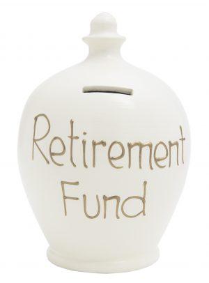 Terramundi Money Pot - Retirement Fund, White - S12