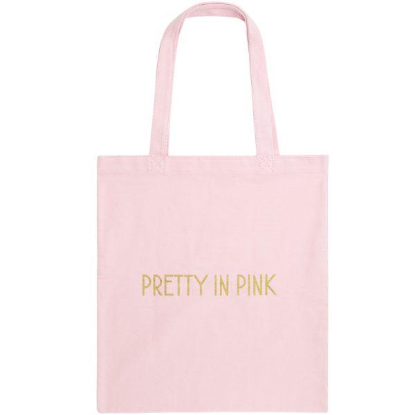 Pretty In Pink Canvas Shopper / Book Bag