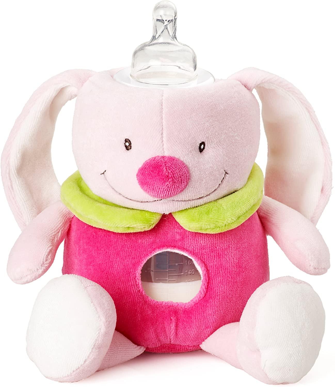 Milkysnugz Pink Rabbit Baby Feeding Bottle Cover Holder