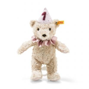 Steiff First Birthday Girl Teddy Bear with Musical Pull String - EAN 240874
