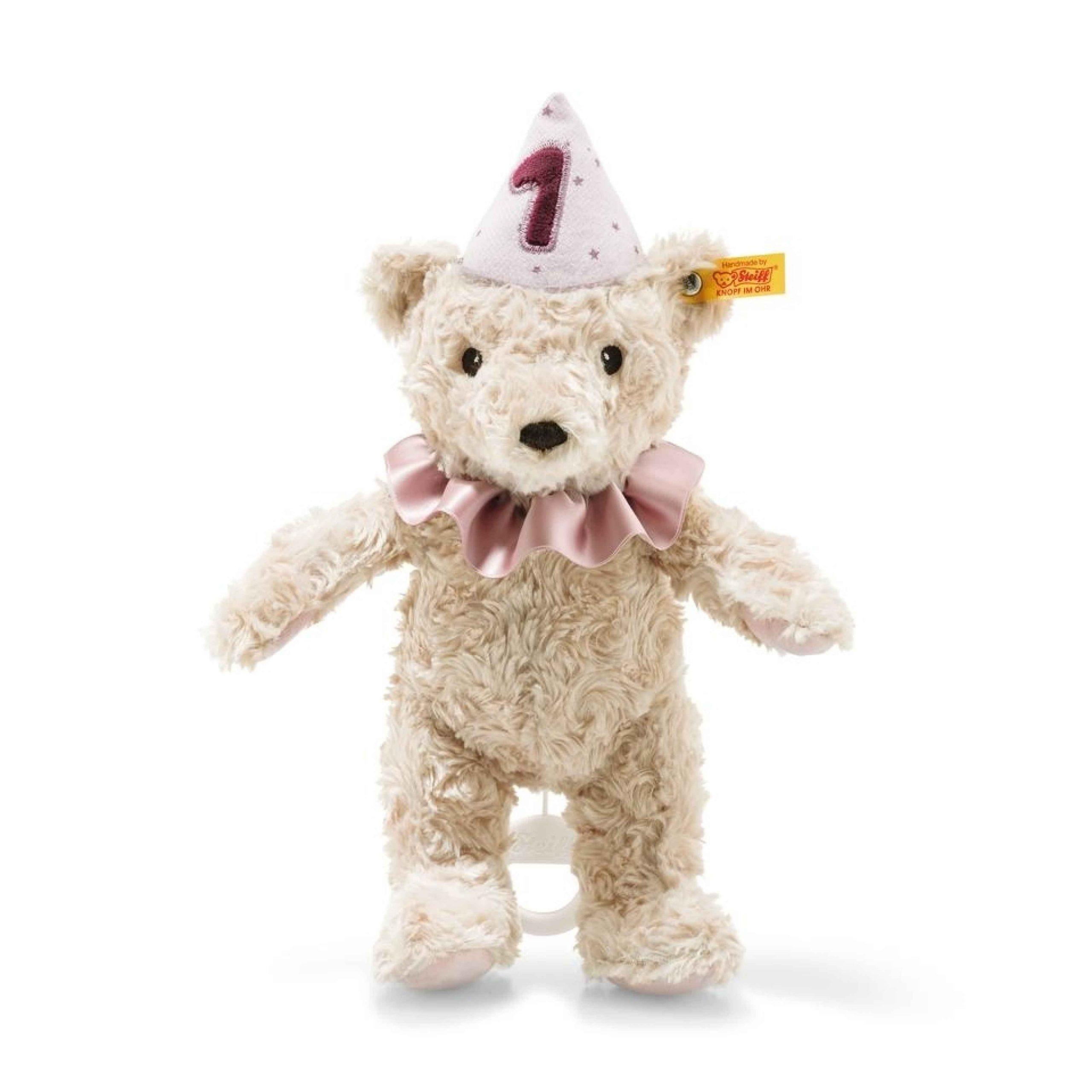 Steiff First Birthday Girl Teddy Bear with Musical Pull String - EAN 240874