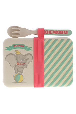 Enchanting Disney Dumbo Organic Bamboo Snack Box with Cutlery Set