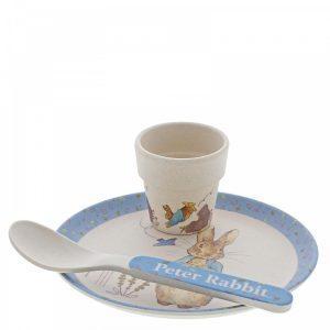 Peter Rabbit Bamboo Egg Cup Dinner Set