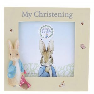 Peter Rabbit Christening Photo Frame - Beatrix Potter