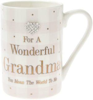 Mad Dots 'For A Wonderful Grandma' Ceramic Mug