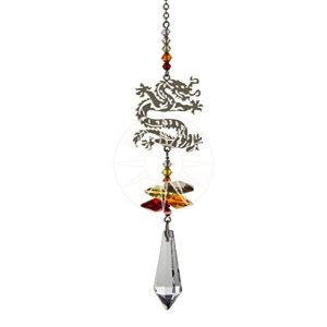 Crystal Fantasy Hanging Swarovski Suncatcher Fiery Chinese Dragon