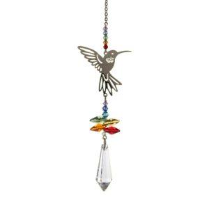 Crystal Fantasy Rainbow Hummingbird Hanging Swarovski Suncatcher