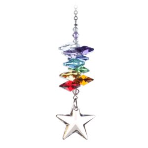 Medium Rainbow Cascade Star - Swarovski Crystal Rainbow Maker Sun Catcher