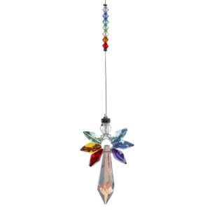 Radiant Guardian Angel Chakra Swarovski Crystal Rainbow Maker Hanging Suncatcher