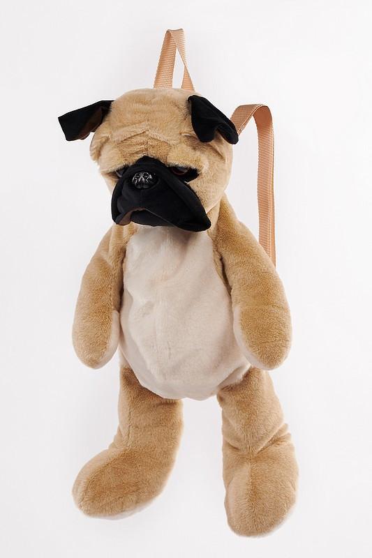 pug dog backpack langs