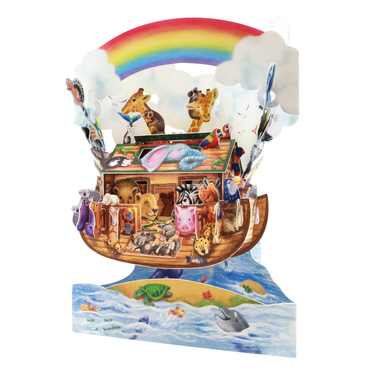 Santoro Noah's Ark 3D Pop-Up Swing Card - Greetings and Birthday Card