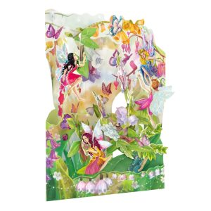 Santoro Fairies 3D Pop-Up Swing Card - Greetings and Birthday Card