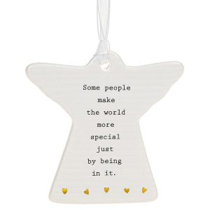 Some People Make The World More Special Just By Being In It' Ceramic Guardian Angel Hanging Plaque - Thoughtful Words