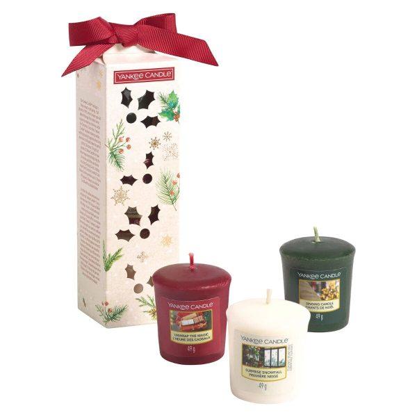 Yankee Candle 3 Votive Gift Set - Magical Christmas Morning