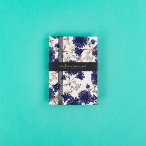 Jessica Russell Flint A6 Luxury Notebook with Moths and Cornflowers JRNBS03 - Soul UK