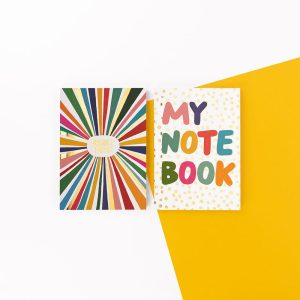 Brush and Moon Two Pack Notebooks - Bright Ideas and My Notebook - Soul UK, BMNBP03