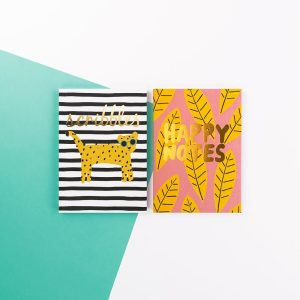 Brush and Moon Two Pack Notebooks - Scribbles and Happy Notes - Soul UK, BMNBP01