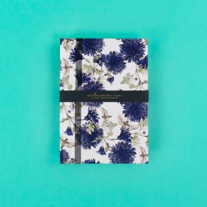 Jessica Russell Flint A5 Luxury Notebook with Moths and Cornflowers JRNBM03 - Soul UK