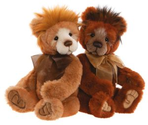 Brimble Bear, 41 cm – Charlie Bears Plush CB202024B and hawkins bear