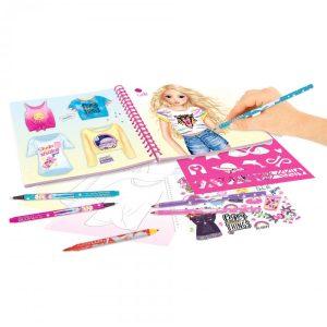 Create Your Top Model T-Shirt Designer Colouring Book - 109121 - Depesche
