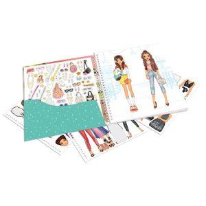 TOP Model Dress Me Up Sticker Colouring Book 10452 - Depesche