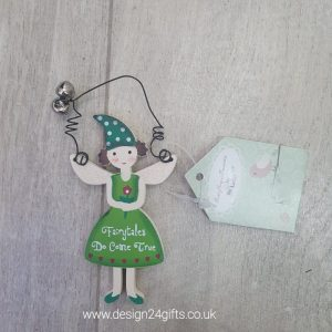 'Fairytales Do Come True' Small Woodland Fairy Hanging Plaque - Langs
