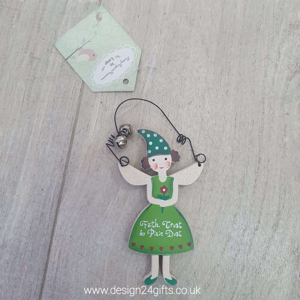 'Faith Trust and Pixie Dust' Small Woodland Fairy Hanging Plaque - Langs